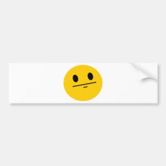 Poker Face Smiley Bumper Sticker