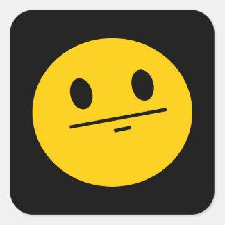 Poker Face Smiley face Square Sticker