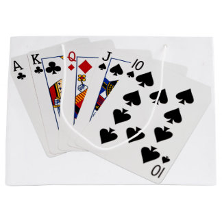 Poker Hands - Straight - Ace To Ten Large Gift Bag