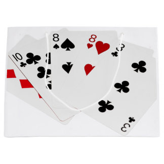 Poker Hands - Two Pair - Ten, Eight Large Gift Bag