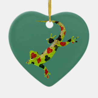 Poker Lizard Christmas Ornament