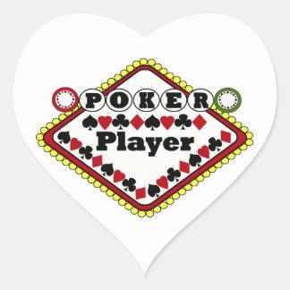 Poker Player Heart Sticker