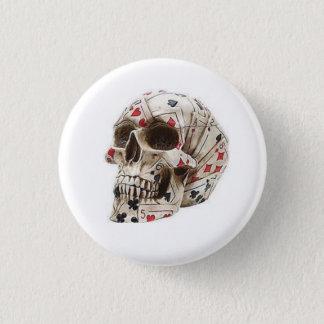 Poker Skull Round Button
