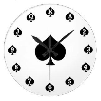 Poker Spades Clock