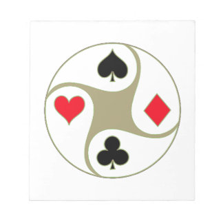 Poker Suits Memo Notepad