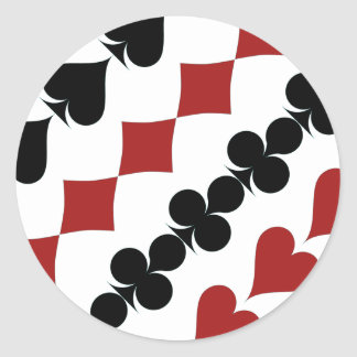 Poker Symbols Classic Round Sticker