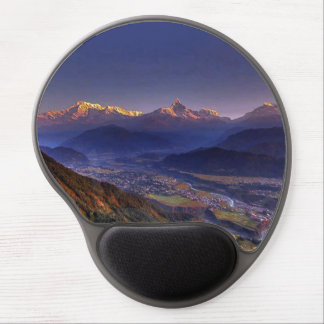POKHARA from PEACE STUPA Nepal DIY Template Gel Mouse Pad