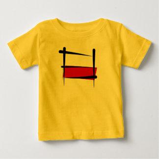 Poland Brush Flag Baby T-Shirt