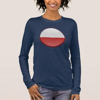 Poland Bubble Flag Long Sleeve T-Shirt