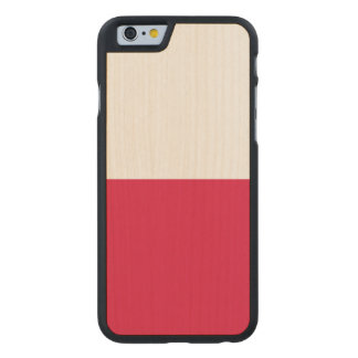 Poland Flag Carved® Maple iPhone 6 Slim Case
