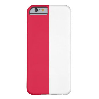Poland Flag Customizable Barely There iPhone 6 Case