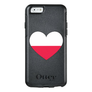 Poland Flag Heart OtterBox iPhone 6/6s Case
