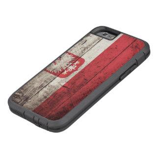 Poland Flag on Old Wood Grain Tough Xtreme iPhone 6 Case