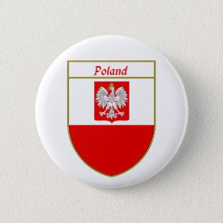 Poland Flag Shield 6 Cm Round Badge