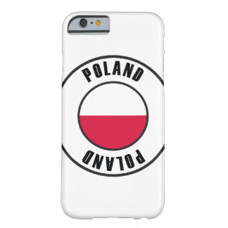 Poland Flag Simple Dark Barely There iPhone 6 Case