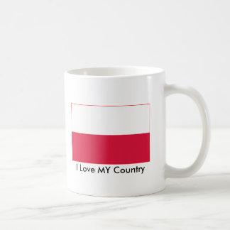 Poland Flag The MUSEUM Zazzle I Love MY Country Basic White Mug