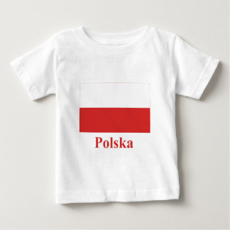Poland Flag with Name in Polish Baby T-Shirt