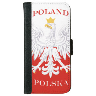 Poland Polska Flag iPhone 6 Wallet Case