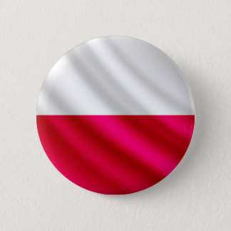 Poland waving flag pinback button