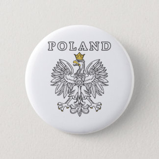 Poland With Polish Eagle 6 Cm Round Badge