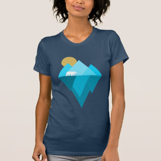 Polar Bear and Glacier Climate Change Facts Tshirt