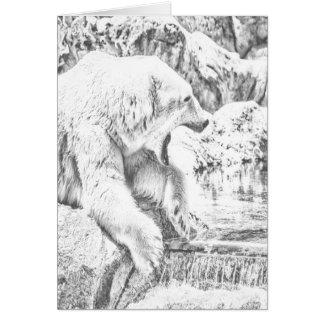 Polar bear and water card