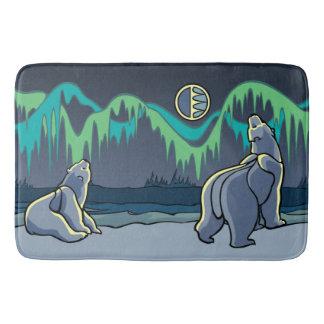 Polar Bear Bathmat Native Art Bath Decor Customize
