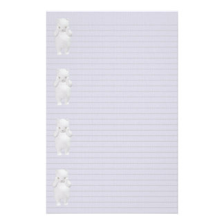 Polar Bear border stationery -optional lines