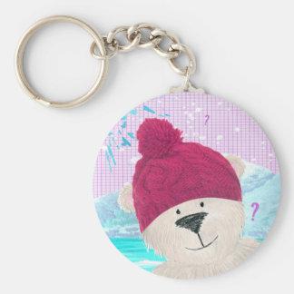 Polar bear Dude Key Ring
