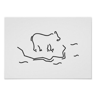 polar bear eisscholle antartkis polar bear poster