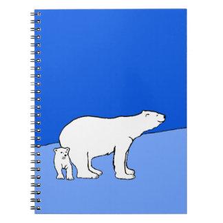 Polar Bear Mom and Cub Notebook