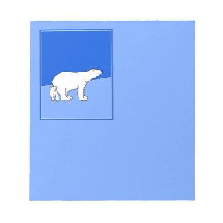 Polar Bear Mom and Cub Notepad