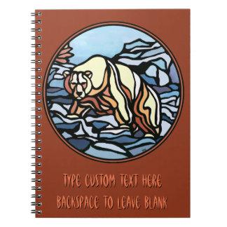 Polar Bear Notebook Native Art Bear Art Notebook