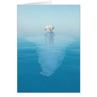 Polar Bear on Iceberg Greeting Card