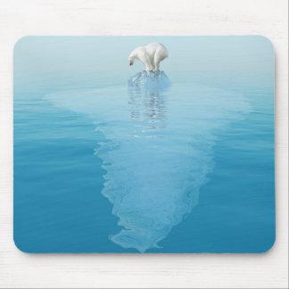 Polar Bear on Iceberg Mouse Pad