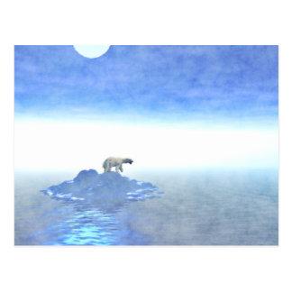 Polar Bear On Iceberg Postcard