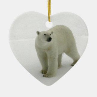 Polar Bear on the Arctic ice Christmas Ornament