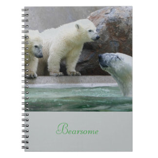 Polar Bear Photo Notebook (80 Pages B&W)