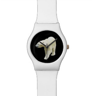Polar Bear Photo on Black Wrist Watches
