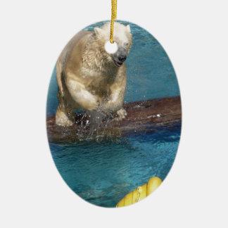 Polar Bear Playing.jpg Christmas Ornament