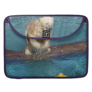 Polar Bear Playing Sleeves For MacBook Pro