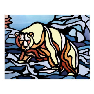 Polar Bear Postcard Native Bear Art Postcards