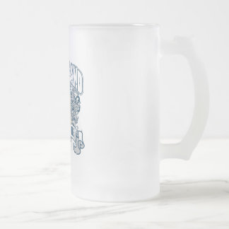 Polar Bear Rhode Island Frosted Glass Beer Mug