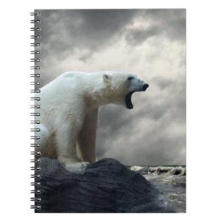 Polar Bear Roaring Notebook