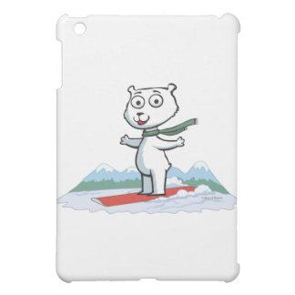 Polar Bear Snowboarding iPad Mini Cover