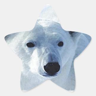Polar Bear Star Sticker