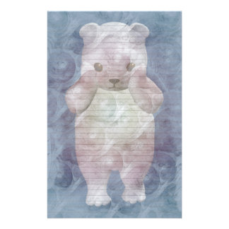 Polar Bear stationery-optional lines Stationery