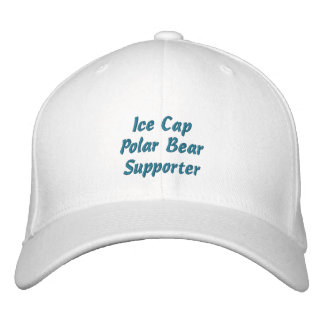 Polar Bear Supporter Fun Embroidered Ice Cap Embroidered Hats