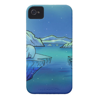 Polar Bears and Northern Lights iPhone 4 Case