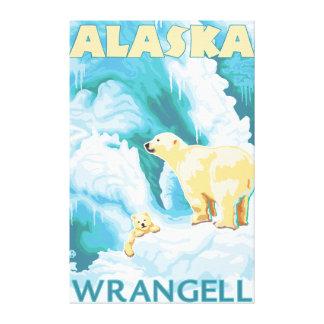 Polar Bears & Cub - Wrangell, Alaska Canvas Print